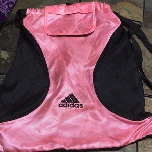 Adidas Black and pink gym bag